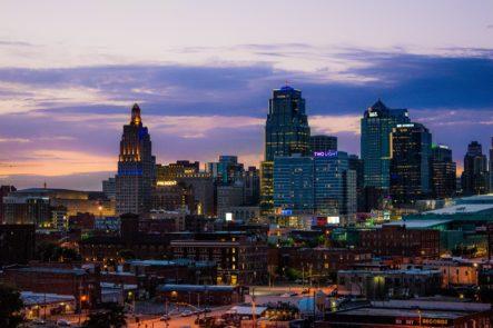 View of Kansas City skyline.